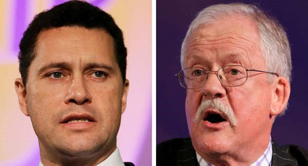 UKIP member Steven Woolfe (left) and European MP Roger Helmer (right)