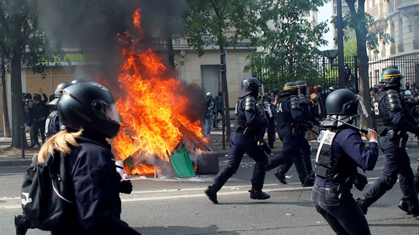 Yellow Vest Protest, Paris, France, Europe, Police, May Day