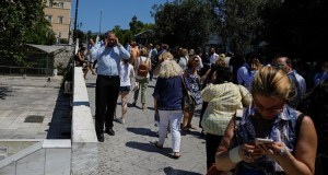 Earthquake of 5.3 magnitude hits Athens, Greece.