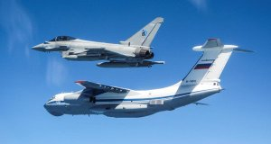 RAF Typhoon Jets seen in Russian airspace in Estonia intercepting Rusian Military.