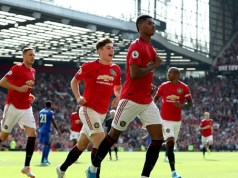 Marcus Rashford scores a penalty to put Manchester United over Leicester City
