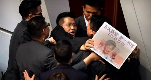 Hong Kong protesters halt the assembly held by Carrie Lam