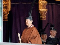 Emperor Naruhito inaugurated on the throne