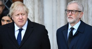 Boris Johnson and Jeremy Corbyn; accused of politicising the London Bridge Attack