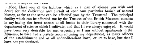 Robert Brown's testimony 1835