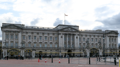 Buckingham Palace, the Queen's home since 1937
