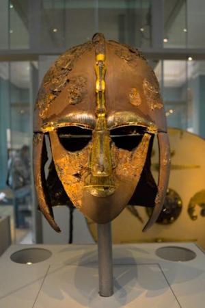 The Sutton Hoo Helmet at the British Museum, by Don Brown