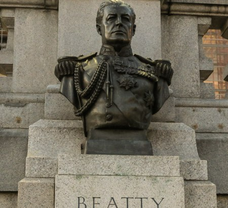 Admiral Beatty in Trafalgar Square by Jill Browne