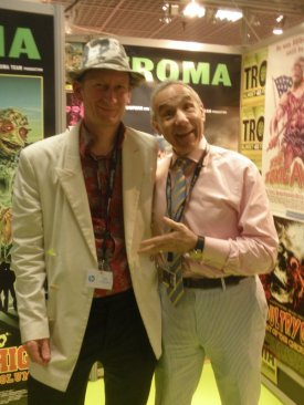 Troma founder Lloyd Kaufman with yours truly, Dominic Wells