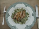 Guinea fowl in mead reduction