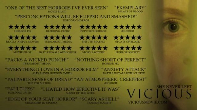 Making Your First Horror Movie: Vicious Poster