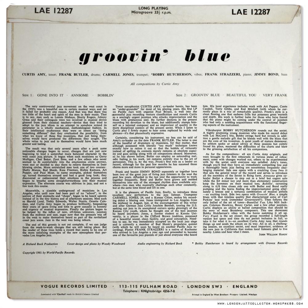 medium resolution of Curtis Amy: Groovin' Blue (1961) Pacific Jazz/ UK Vogue    LondonJazzCollector