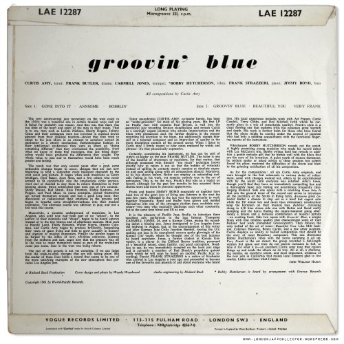 small resolution of Curtis Amy: Groovin' Blue (1961) Pacific Jazz/ UK Vogue    LondonJazzCollector