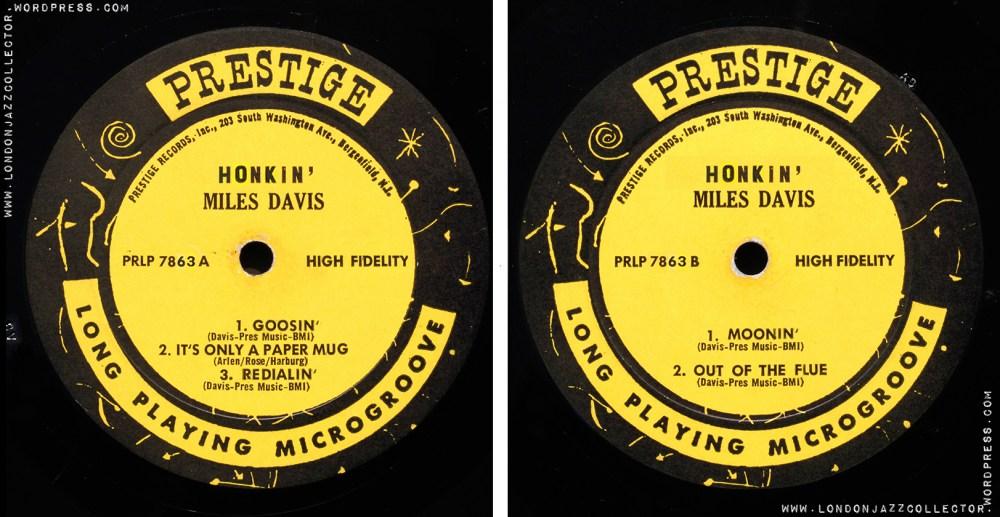 medium resolution of Miles Davis: Honkin' (1956) Prestige   LondonJazzCollector