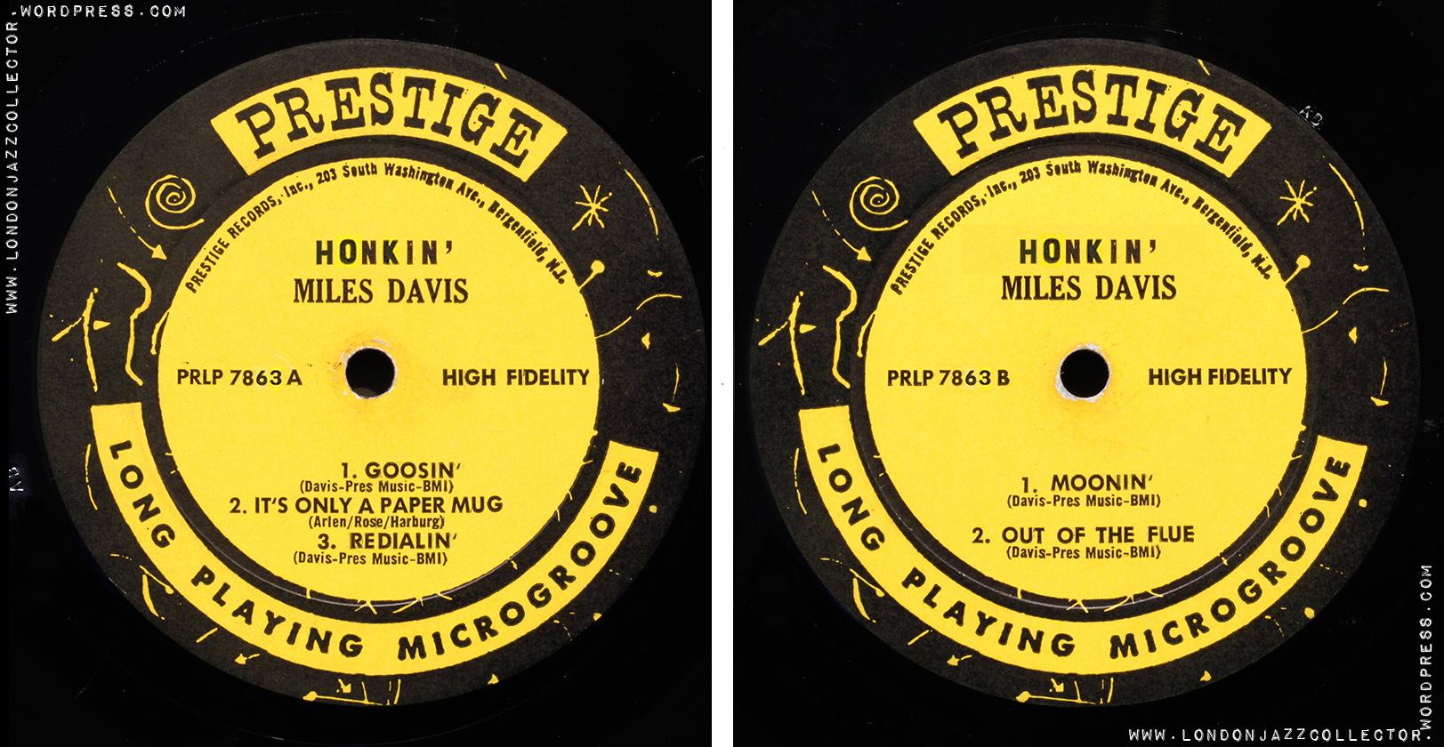 hight resolution of Miles Davis: Honkin' (1956) Prestige   LondonJazzCollector
