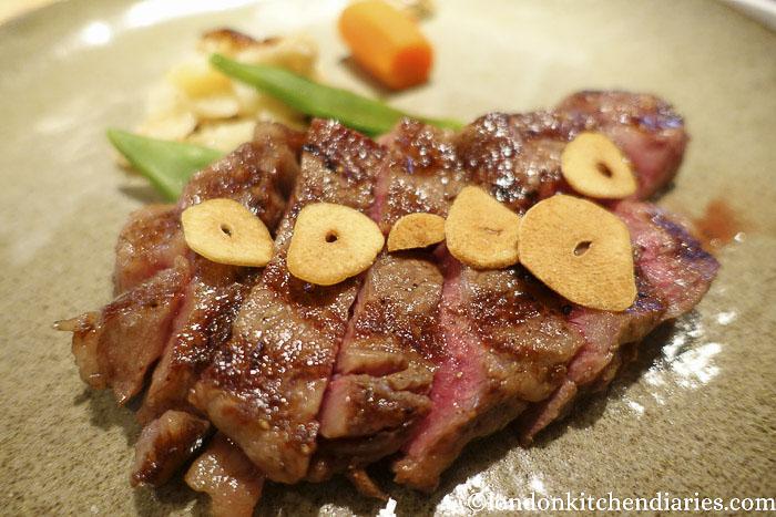 Wagyu steak at Hafuu, Kyoto