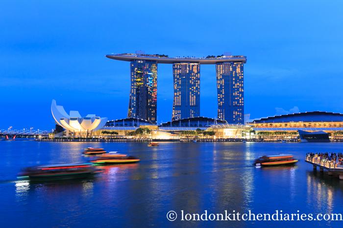 Singapore at night Marina Bay Sands
