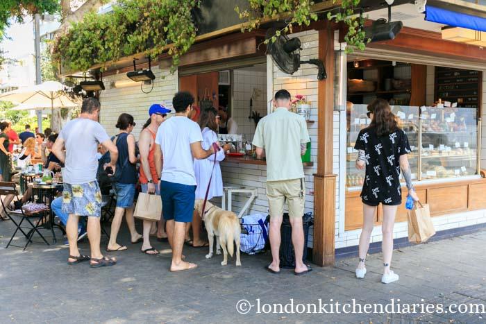 Coffee shop in Tel Aviv Israel