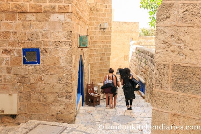 Winding alleyways of Jaffa Israel
