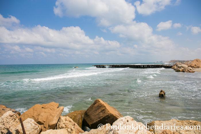 Tel Aviv's rough coastal seafront