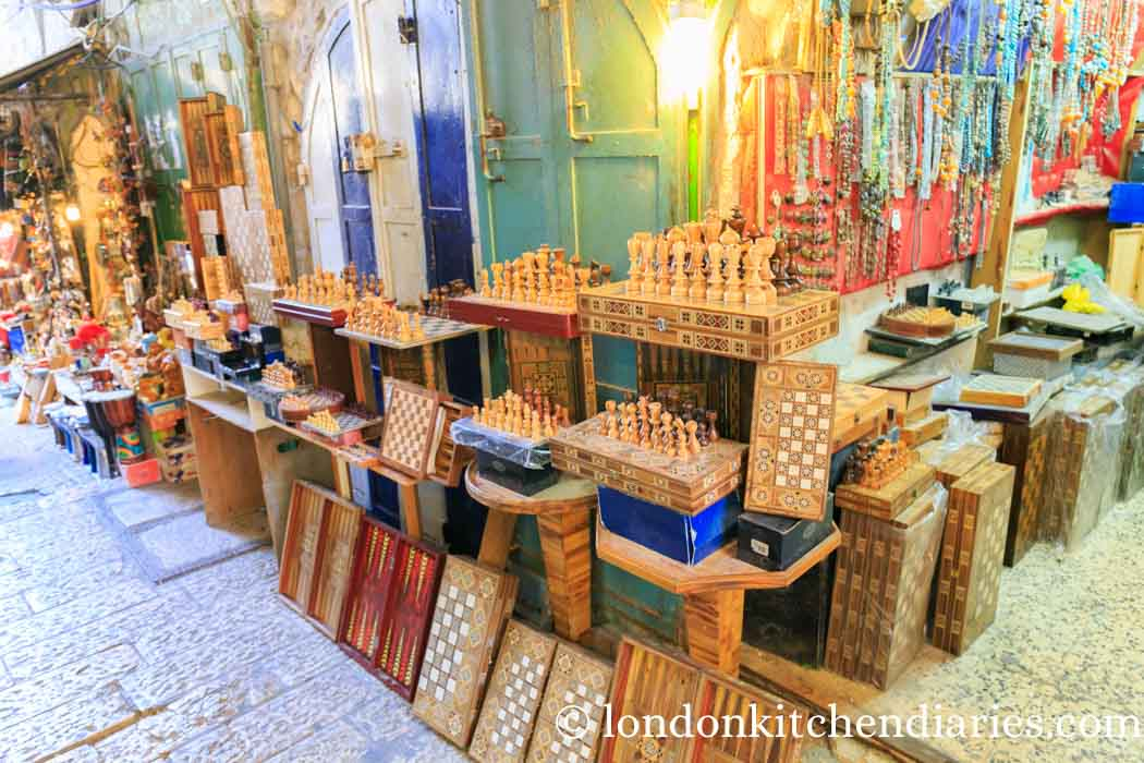 Shops at the muslim quarter in Jerusalem Israel