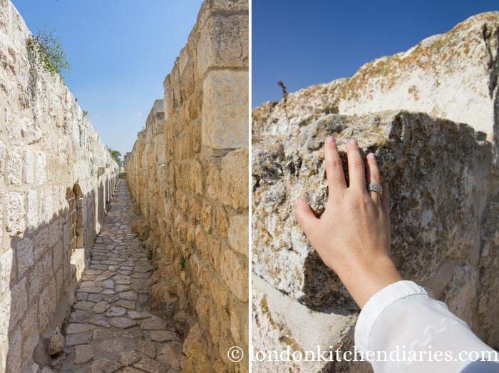 Walk of the ramparts in Jerusalem Israel