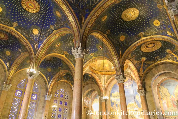 Twelve decorated domes at Basilica of the Agony Jerusalem