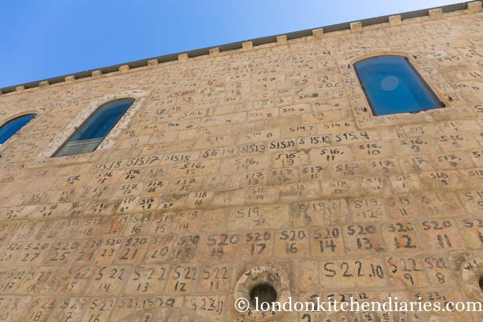 Mamilla Hotel numbered facade Jerusalem Moshe Safdie