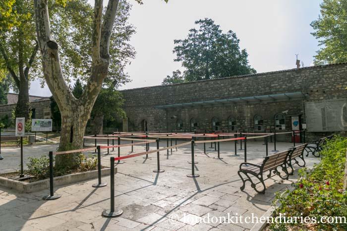 Empty entrance to Topkapi Palace