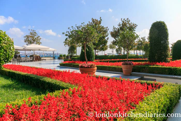 Stunning gardens at the Four Seasons at the Bosphorus Istanbul
