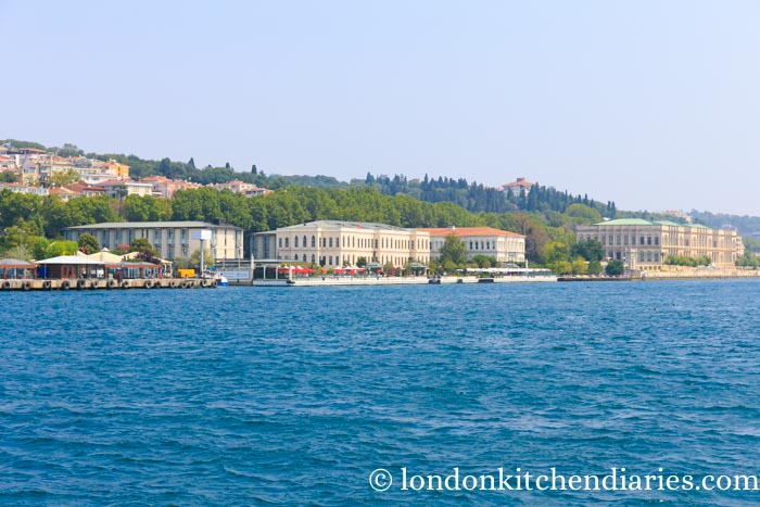 View of Four Seasons Bosphorus from the waterside