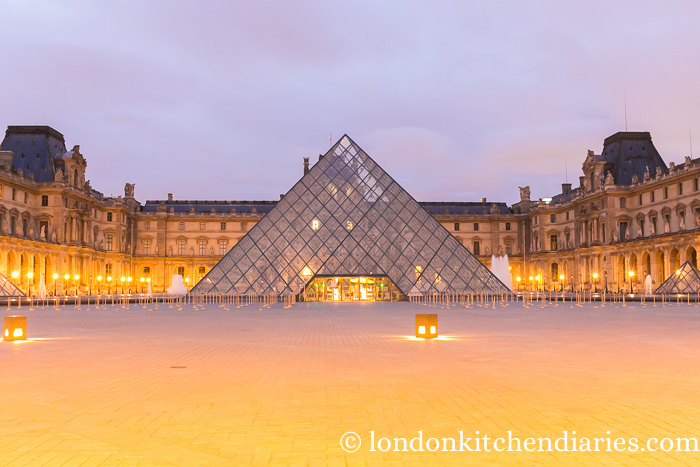 The Louvre in Paris at sunrise