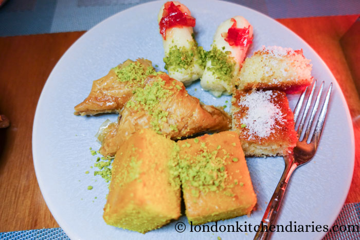 Arabic Pastries at Al Sufra Doha Restaurant Review