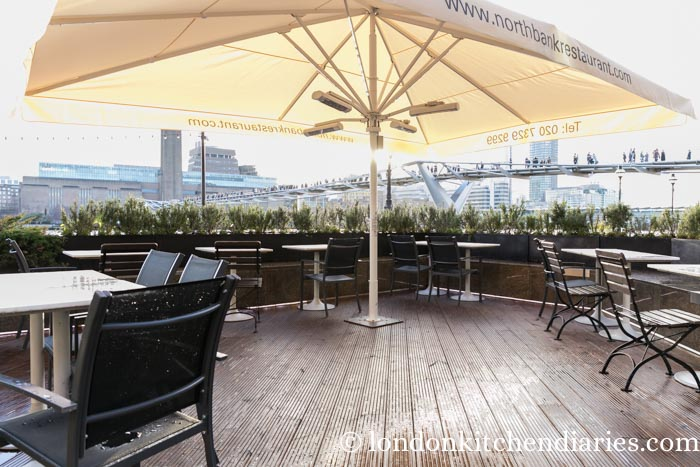 Outside Terrace at Northbank Restaurant and Bar