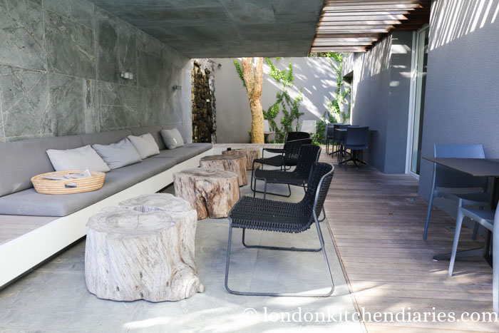 Covered outdoor space at POD Camps Bay