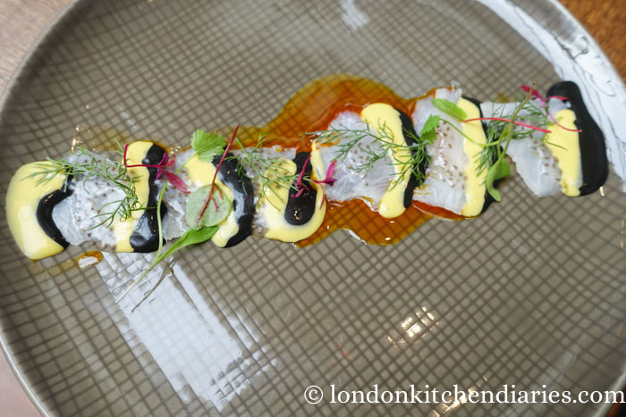 Cobra Fish Tiradito at LIMA Fitzrovia London