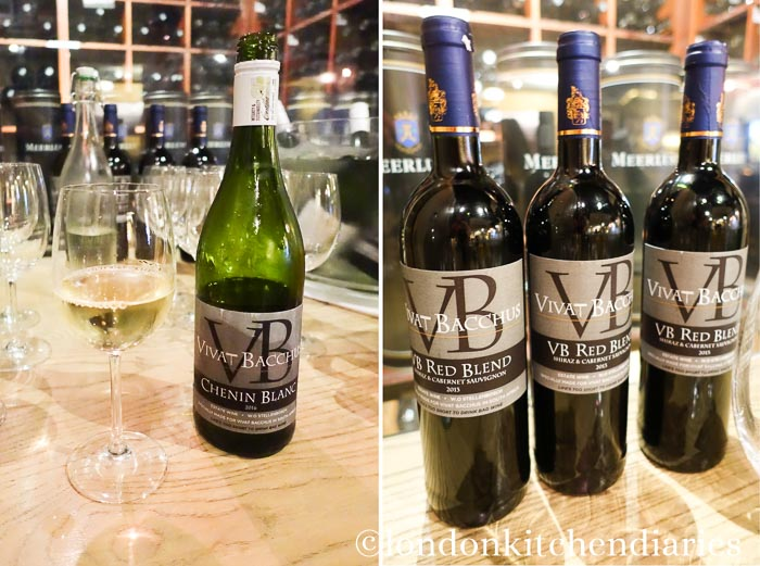 Vivat Bacchus own label red and white wine