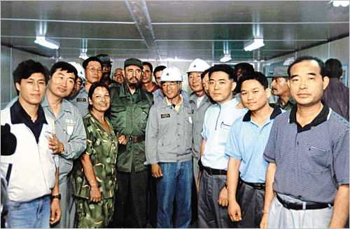 Castro visits Hyundai site.