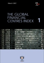 Cover from the City's Global Financial Centre Index report
