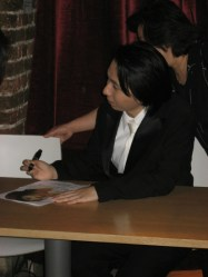 Lim Hyung-joo signs autographs in the Footstool cafe at St John's, Smith Square.