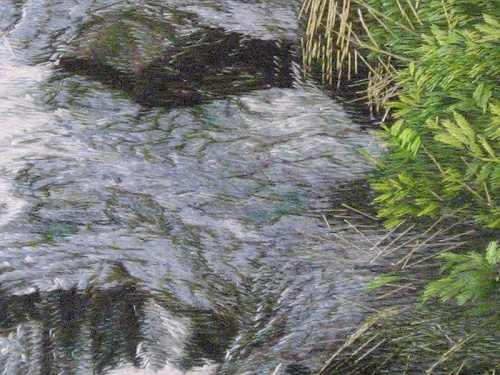Embroidery: Woodland river (detail)