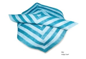 Choi Ok-ja - Indigo scarf