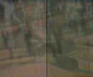 Chul-won Kwak: Archaic Union, acrylic on canvas, 120 x 100 cm