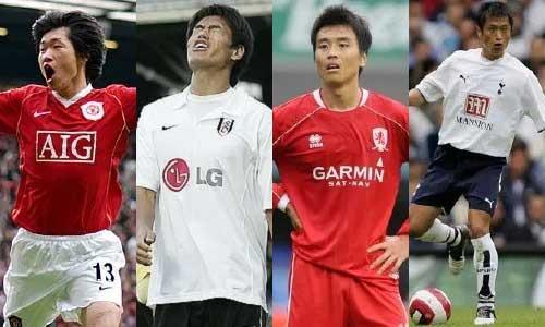 Four Korean footballers