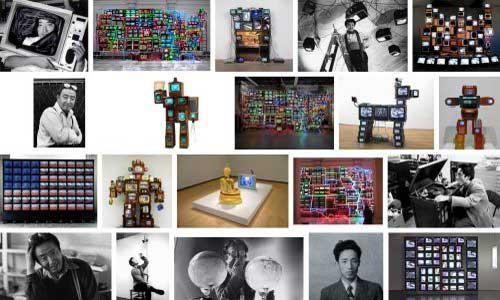 Nam June Paik Google image montage