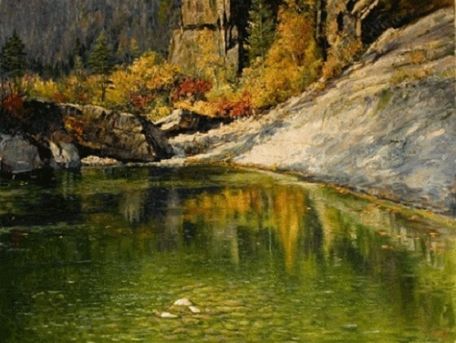 Autumn in Mt Myohang - by Kang Song Ryong
