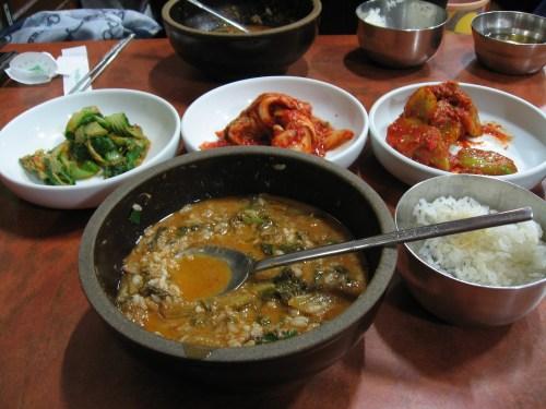 Lunch at Namwon Chueotang behind the Deoksu Palace
