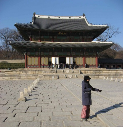 Our guide for the tour of the Changdeokgung and Secret Garden