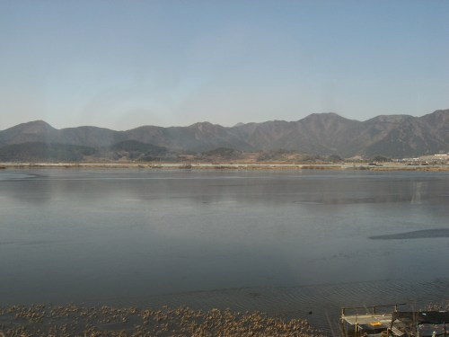 The view from the KTX, somewhere in Gyeongnam