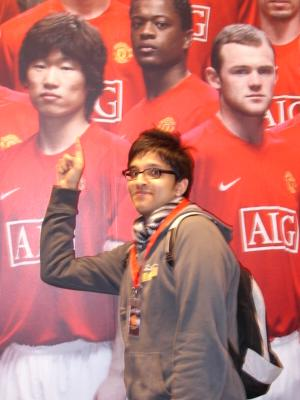 Aashish Gadhvi with Park Ji-Sung (and Wayne Rooney)